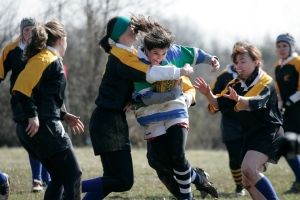 Martha playing rugby at The Mount