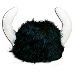 fuzzy viking helmet given out by Warrior Dash