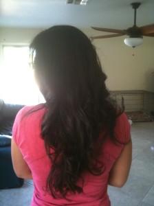 Littlest Martha beachy hair, back of head