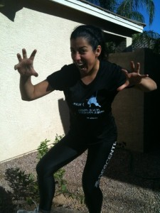 LittlestMartha WarriorDash AZ stance