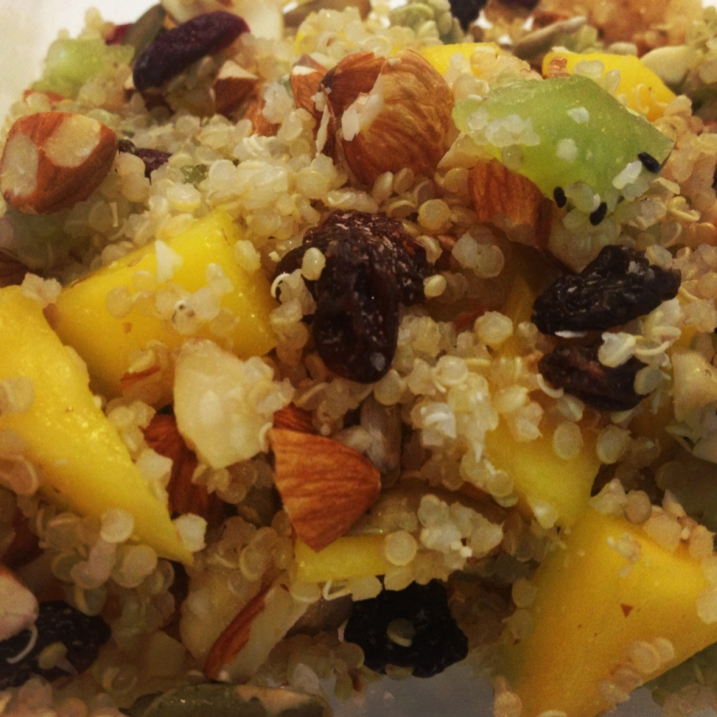 quinoa cereal with fruit