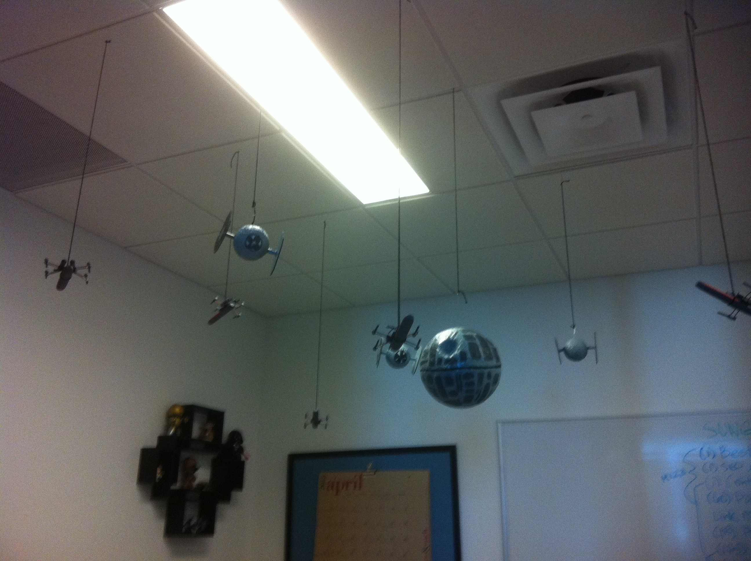 death star cubicle - Star Wars Decorations