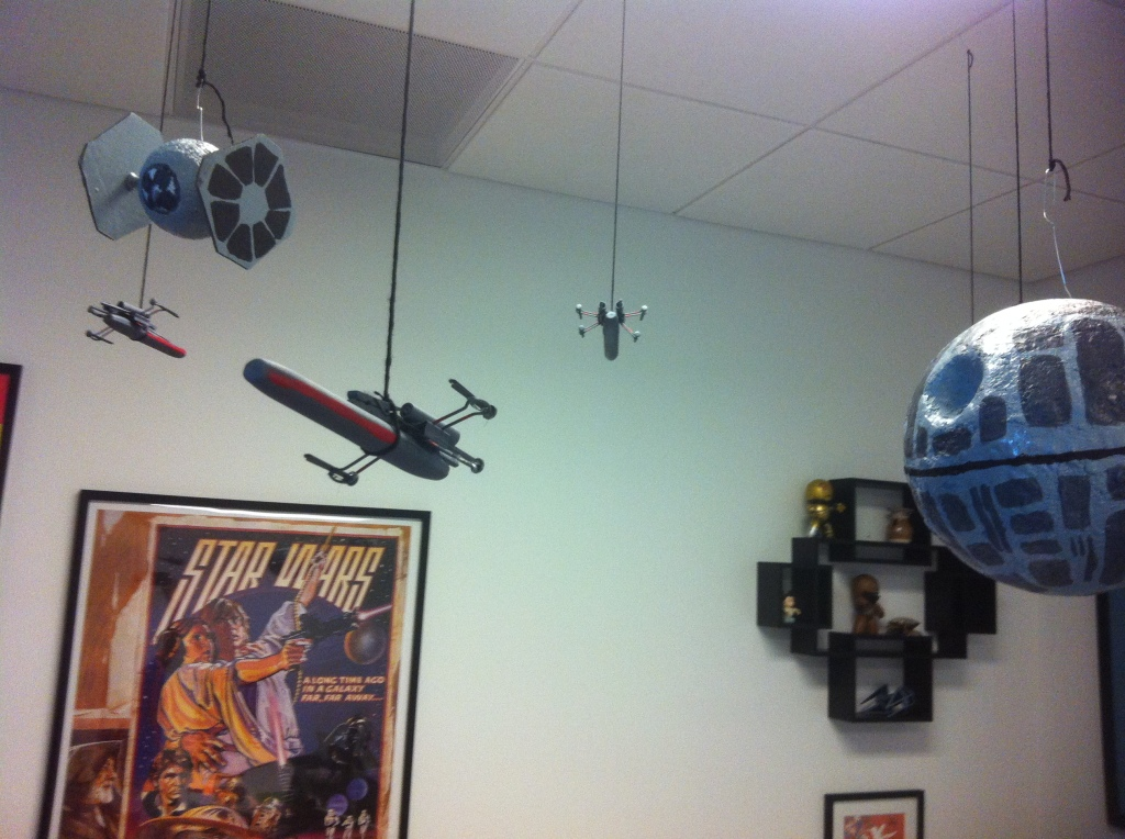 Death Star Cubicle with X-wings