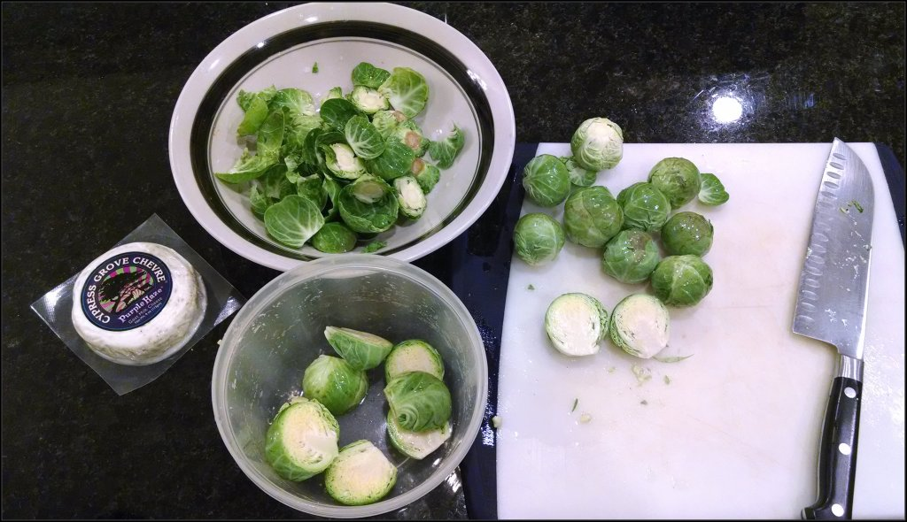 Brussels Sprouts clean up
